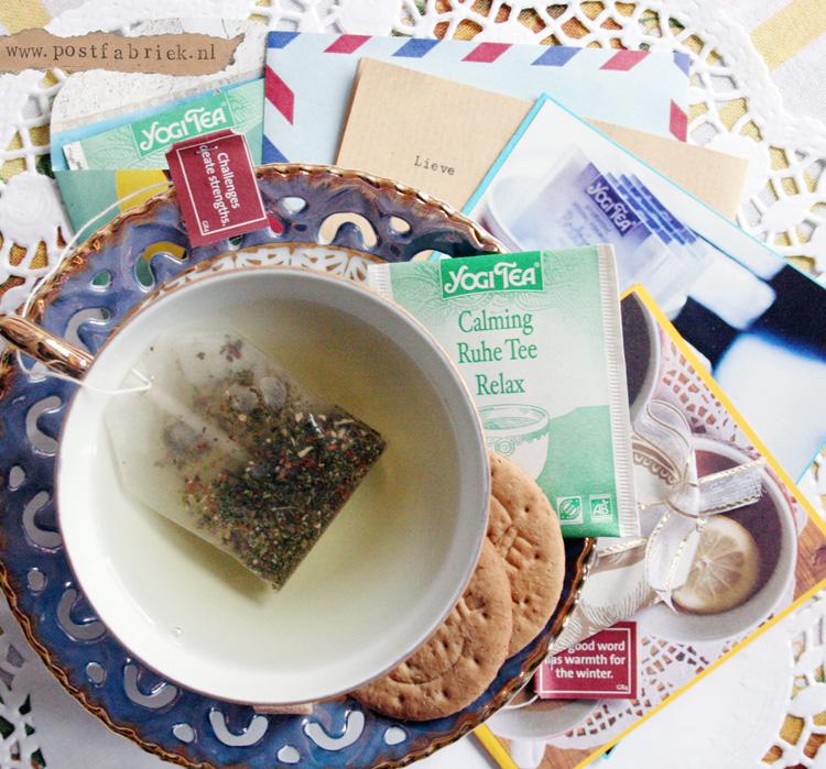 Oude verpakking van Yogi Tea, foto uit 2013.