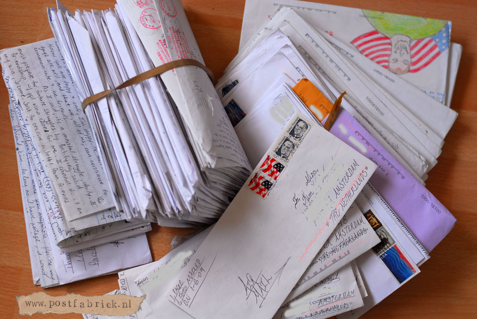 Alle brieven die ik heb ontvangen vanuit Amerika