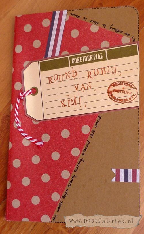 De kaft van mijn Round Robin boekje