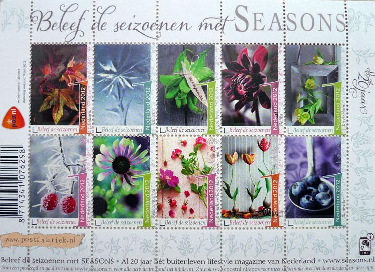 """Prachtige postzegels met het thema """"seizoenen"""""""
