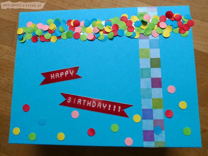 Confettihappybirthdaykaart