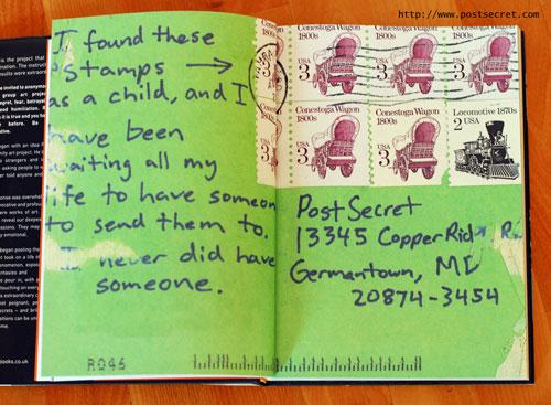 Een geheim uit het postsecret boek