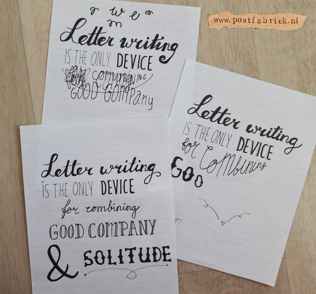 Favoriete Hand Lettering (tips voor het tekenen van mooie letters) - Postfabriek QH52