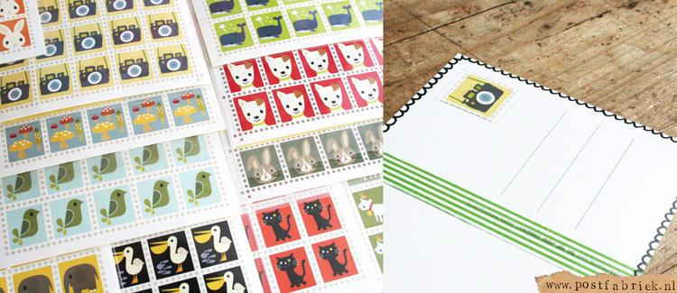 postzegelstickers