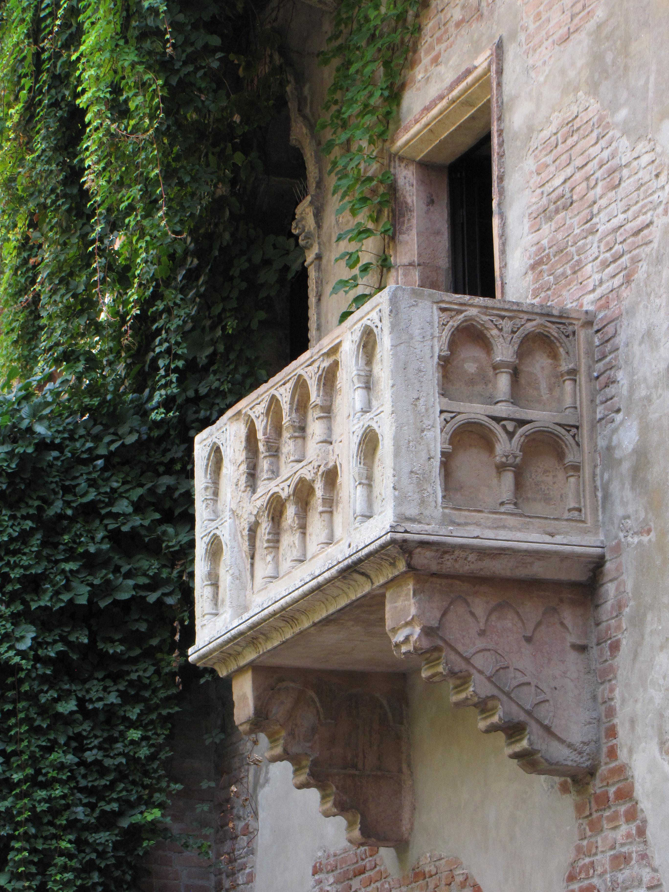 Het balkon bij Casa di Guilietta