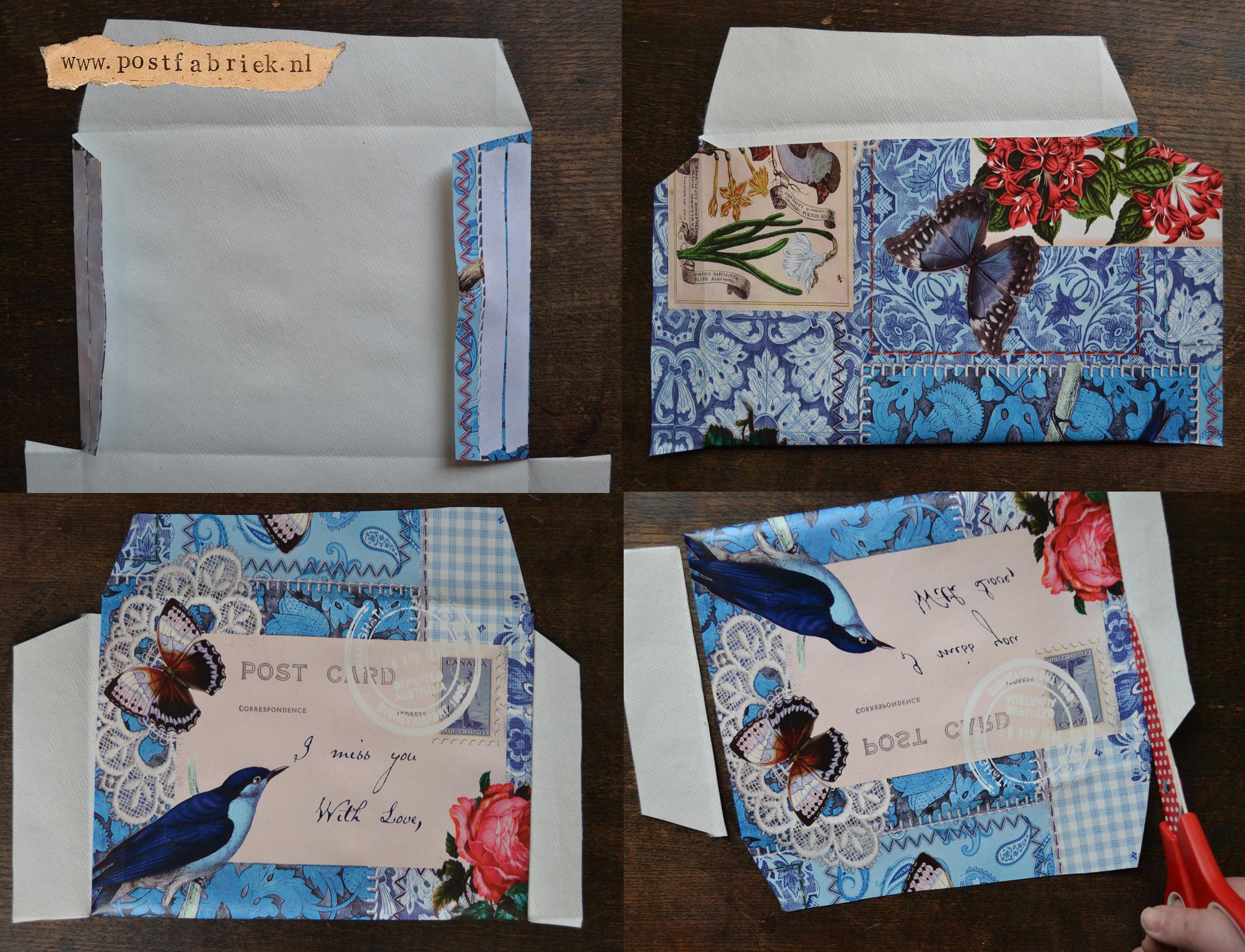 Van tafelzeil tot post - envelop dicht plakken