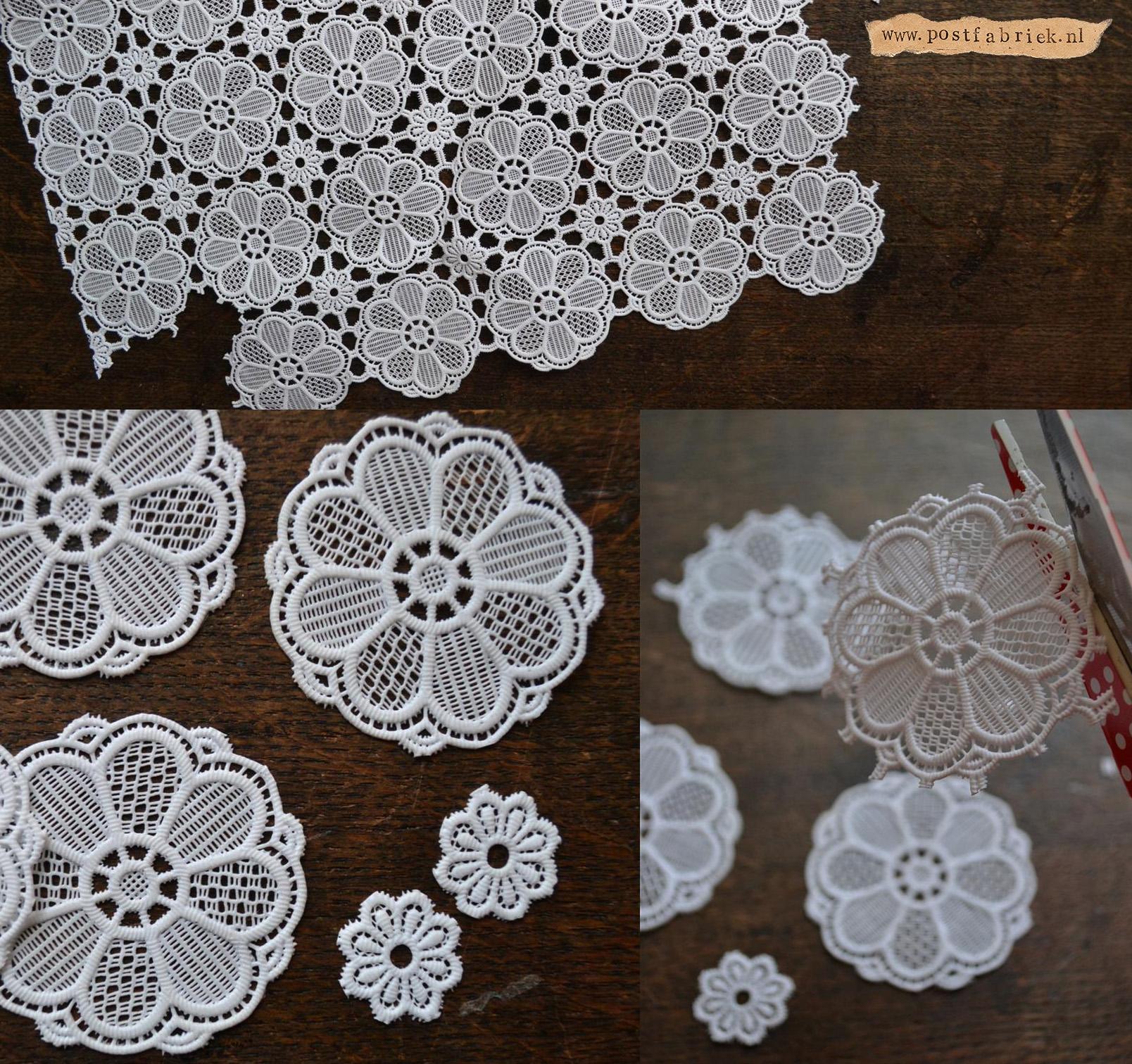Van tafelzeil tot post - kanten tafelkleed bloemetjes
