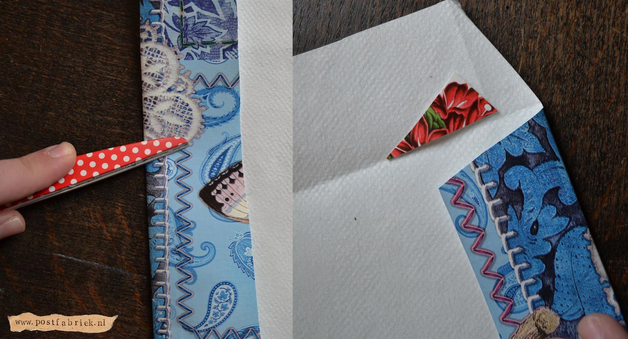 Van tafelzeil tot post - vouwranden maken