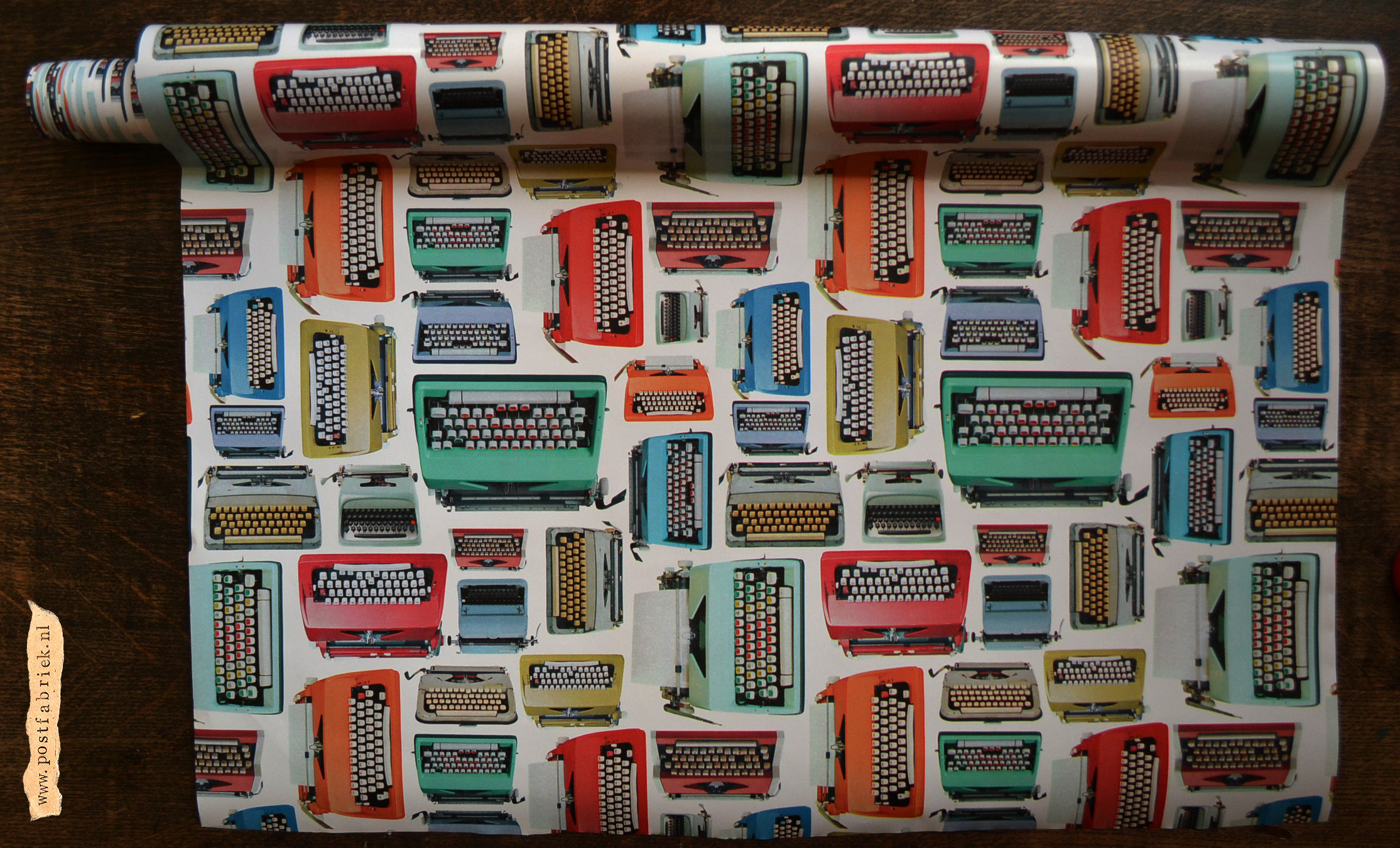 Rol typemachine inpakpapier
