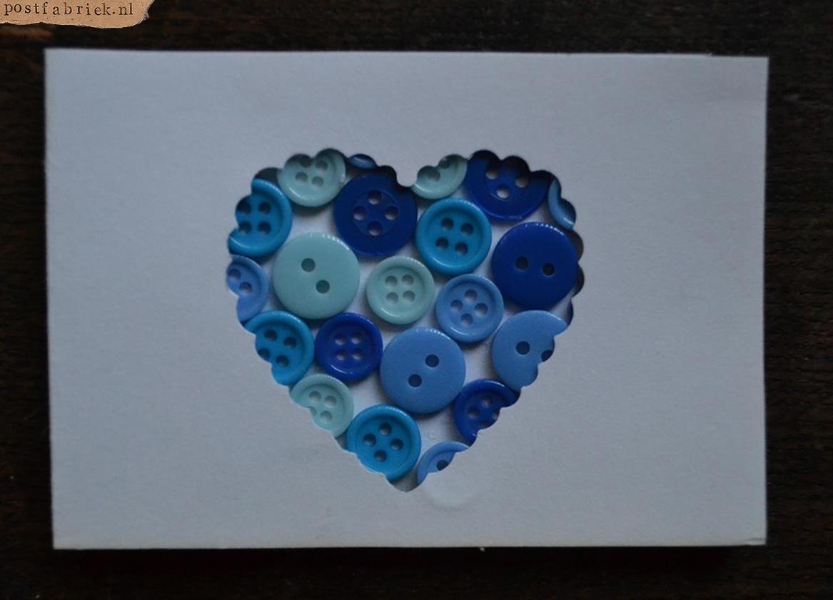 blauw hartje knoopjes