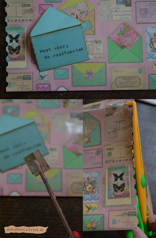 Envelop postpapierenzo vel postthema papier
