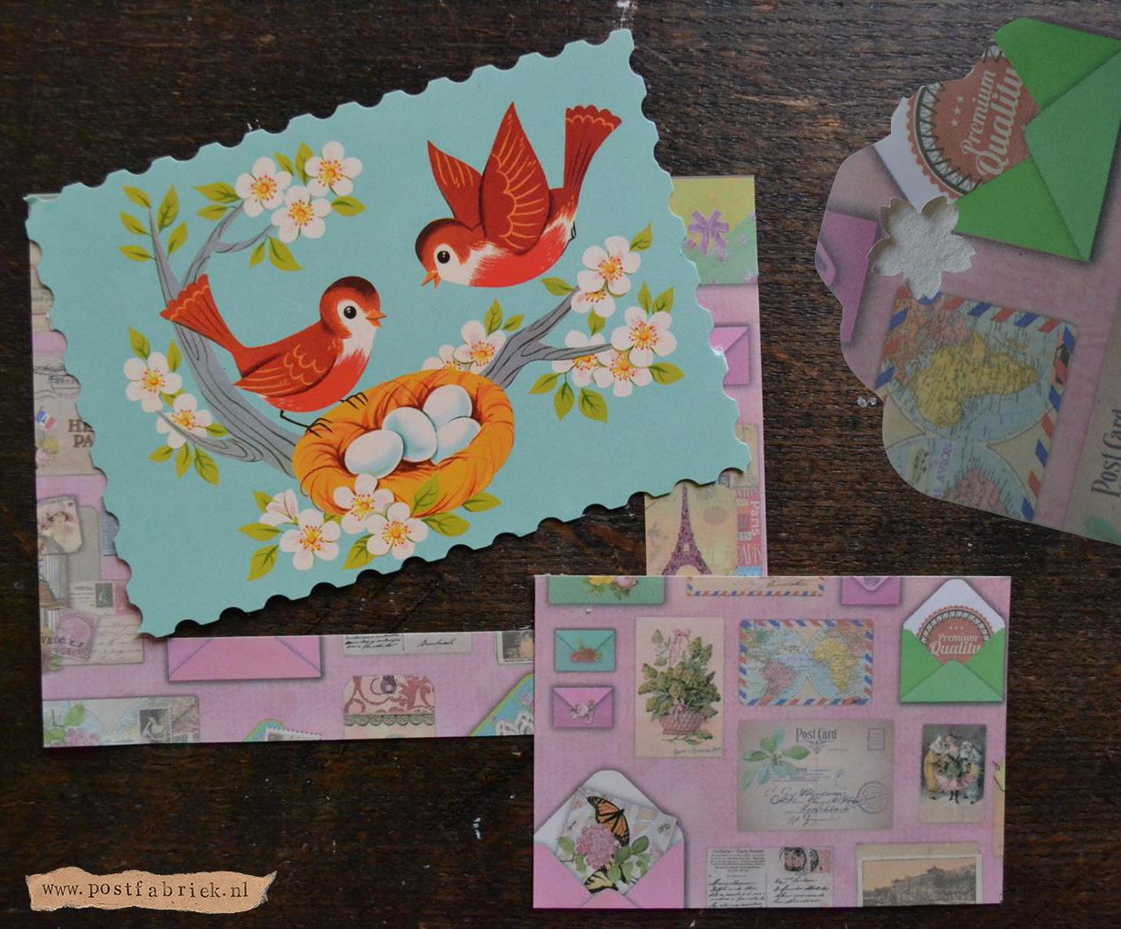 Laart en labels van postthema papier