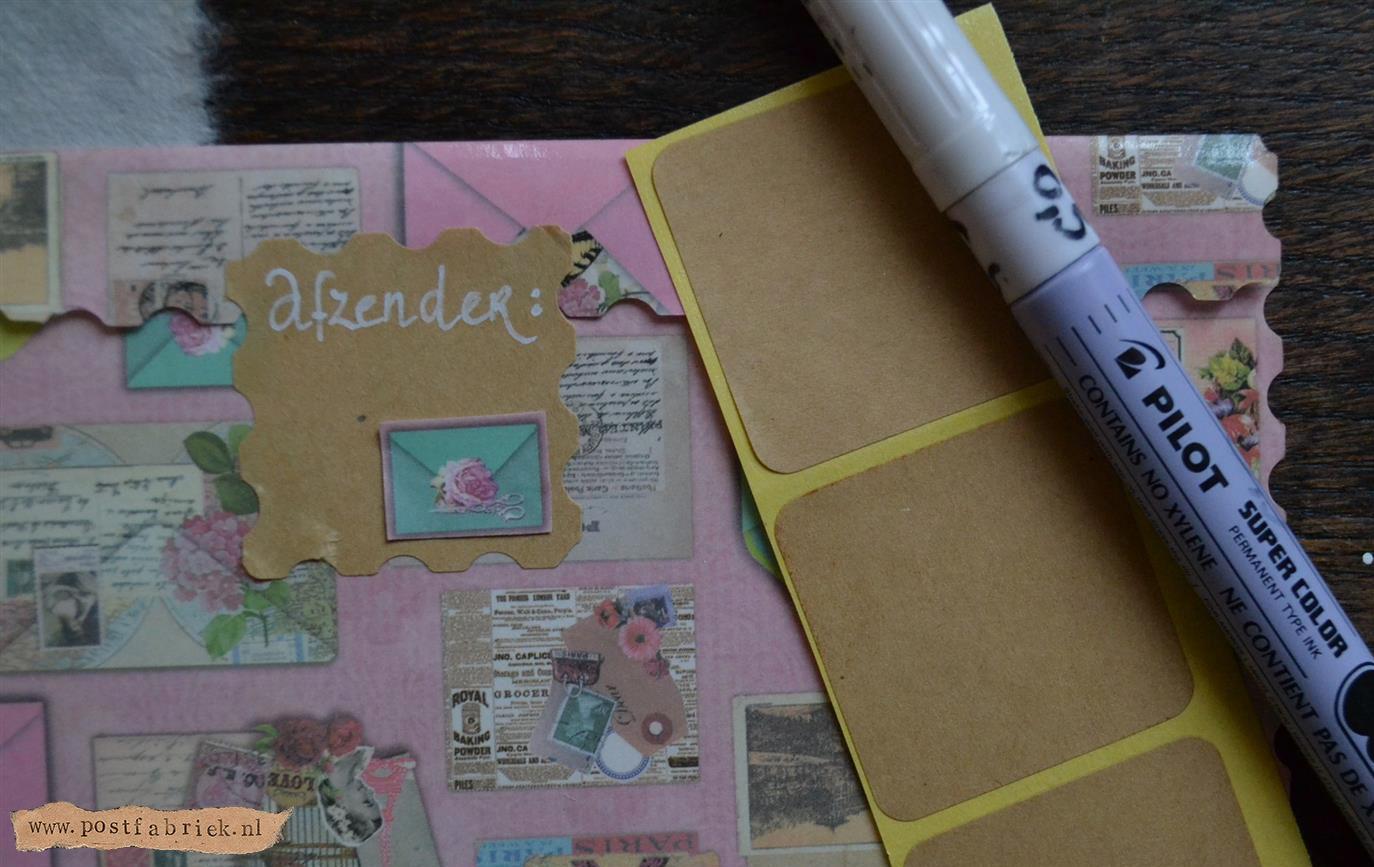 Sluitzegel met postzegelrand