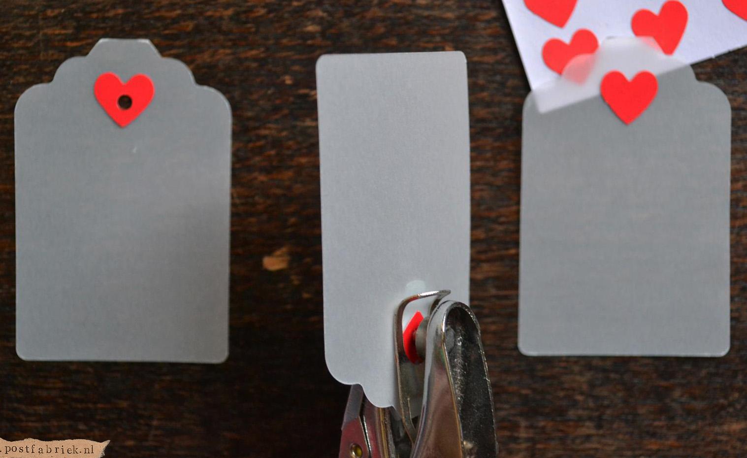 Labels met hartjes