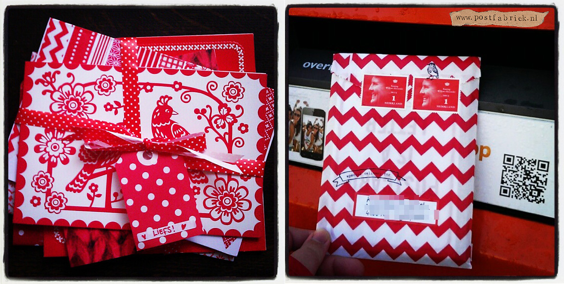 Rode thema post / red themed snailmail