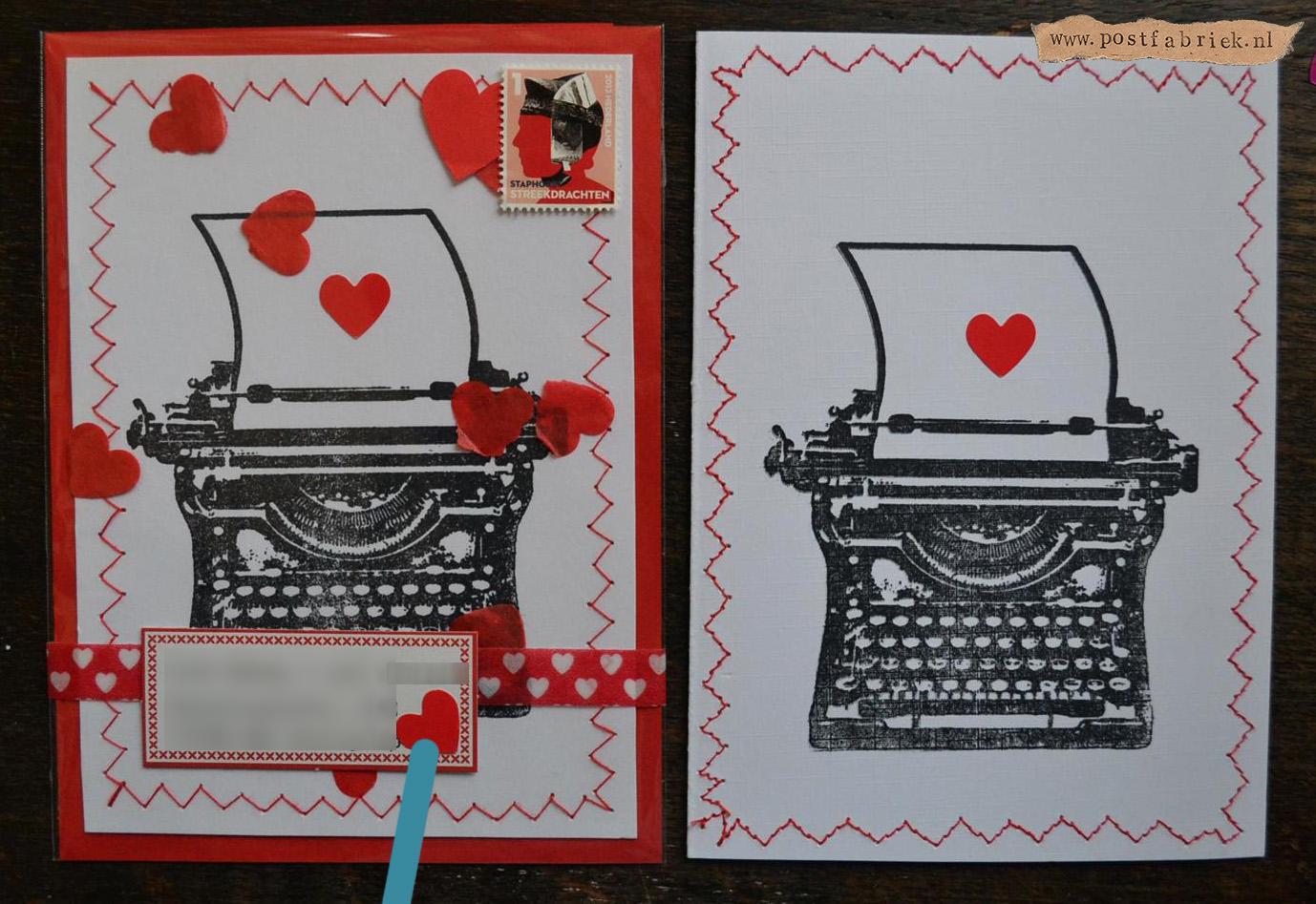 Typemachine kaartjes