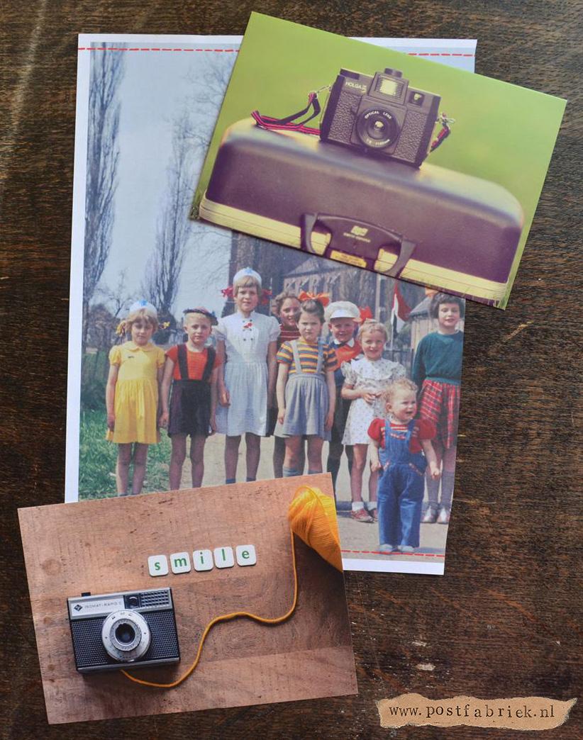 Kaartjes met oude camera's
