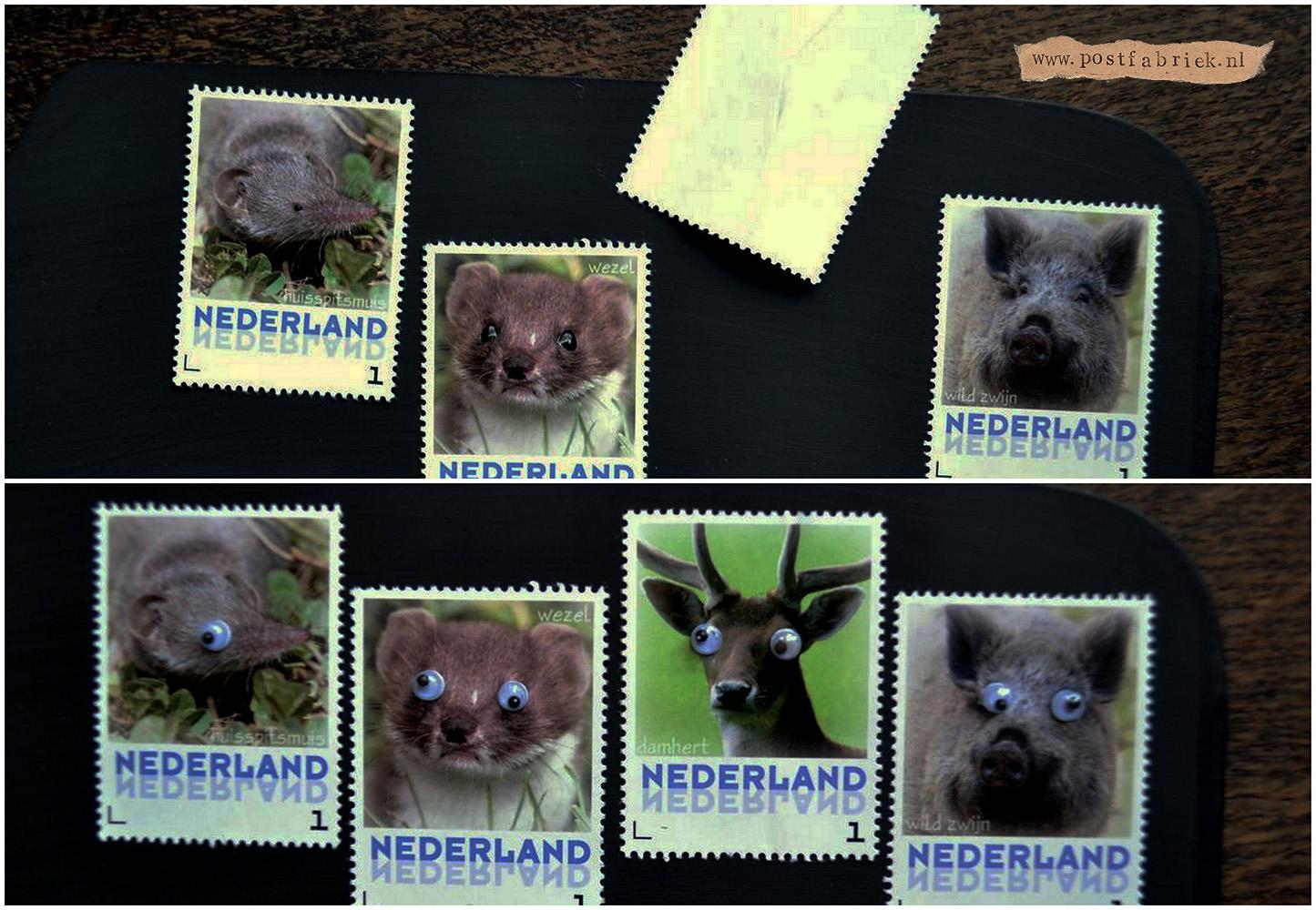 Krijtbord postzegels