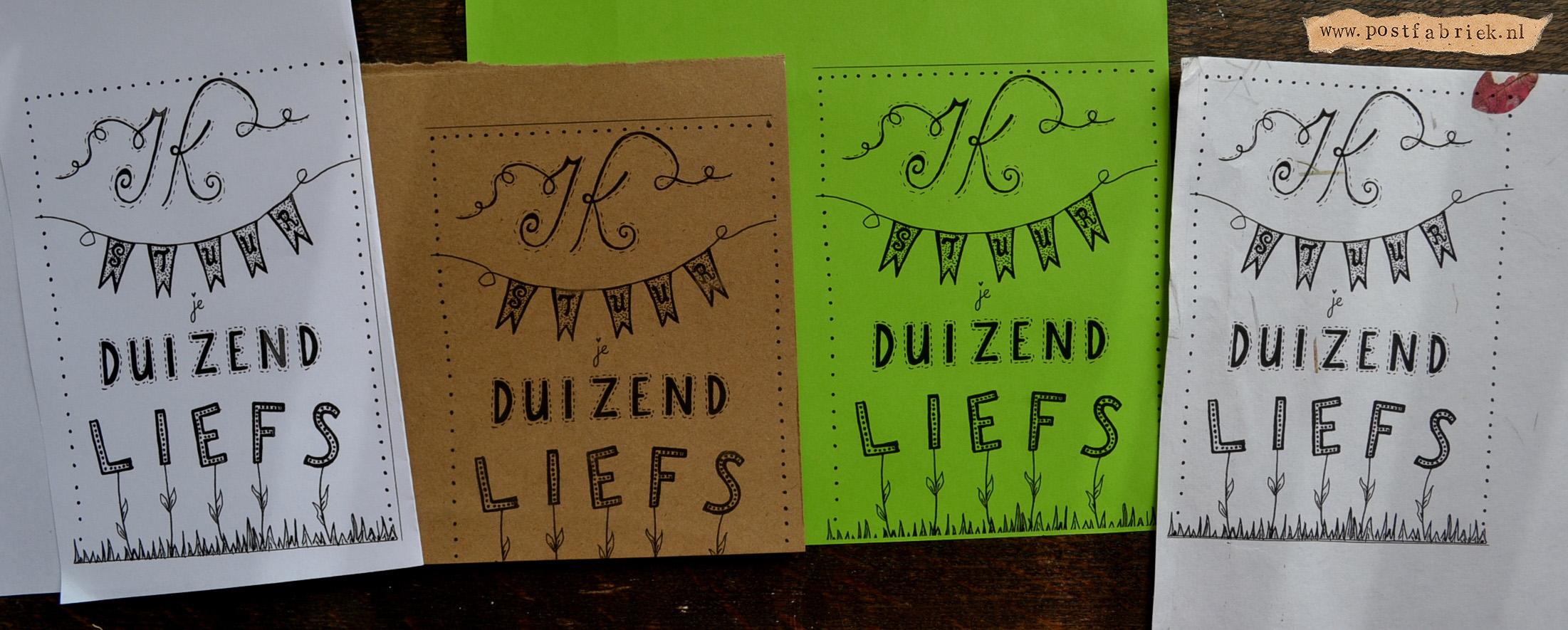 Kopieer het origineel op verschillende soorten papier om meerdere kaartjes te maken