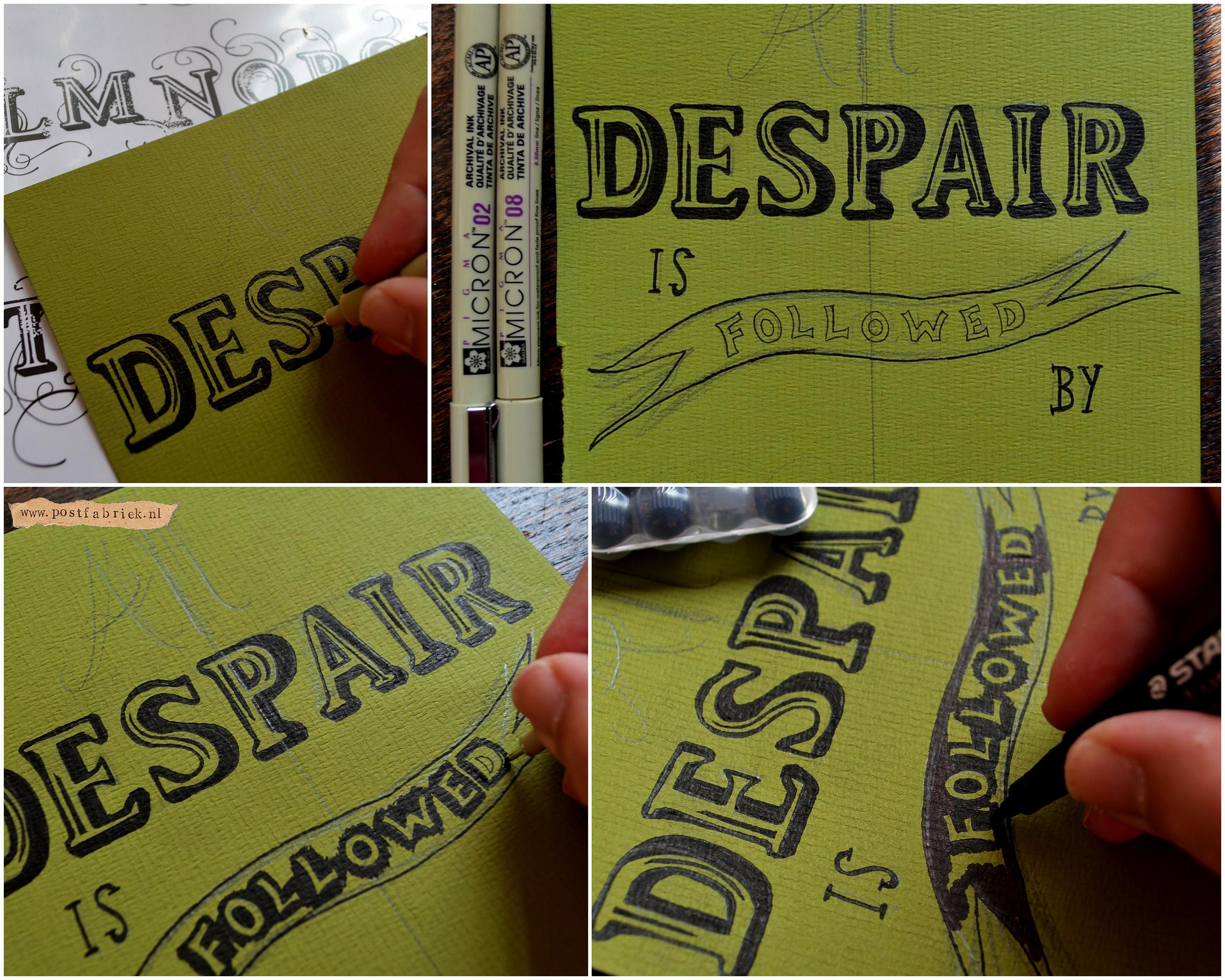 Hand Lettering collage stap voor stap II