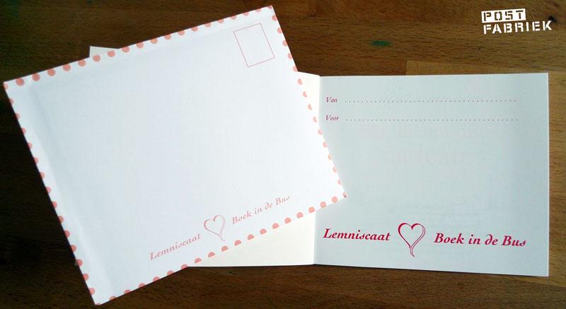 In het boekje is er ruimte om een persoonlijke boodschap te schrijven. Bij het boekje zit ook een enveloppe waar hij precies in past.