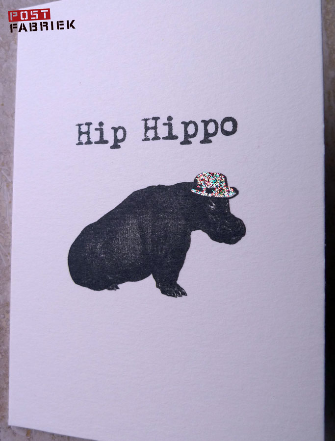 Nijlpaardmeteenglitterhoed