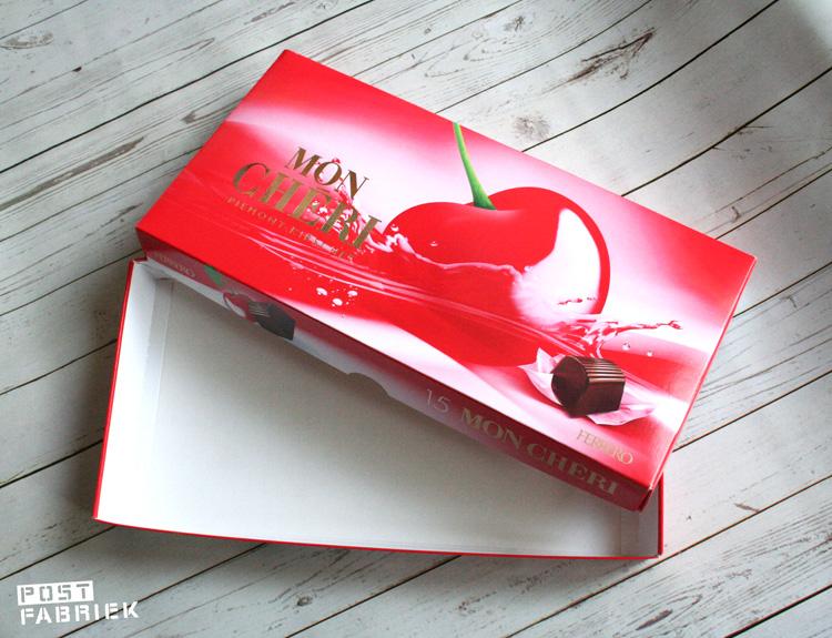 Verpakking van chocolaatjes wordt een brievenbusdoosje.