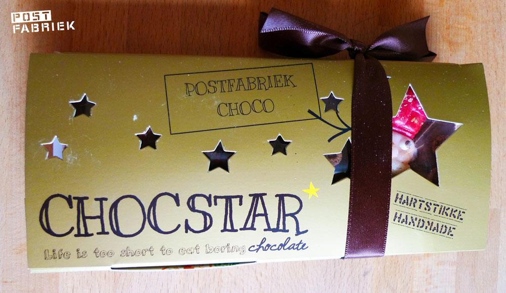 Chocstar reep verpakt als cadeautje
