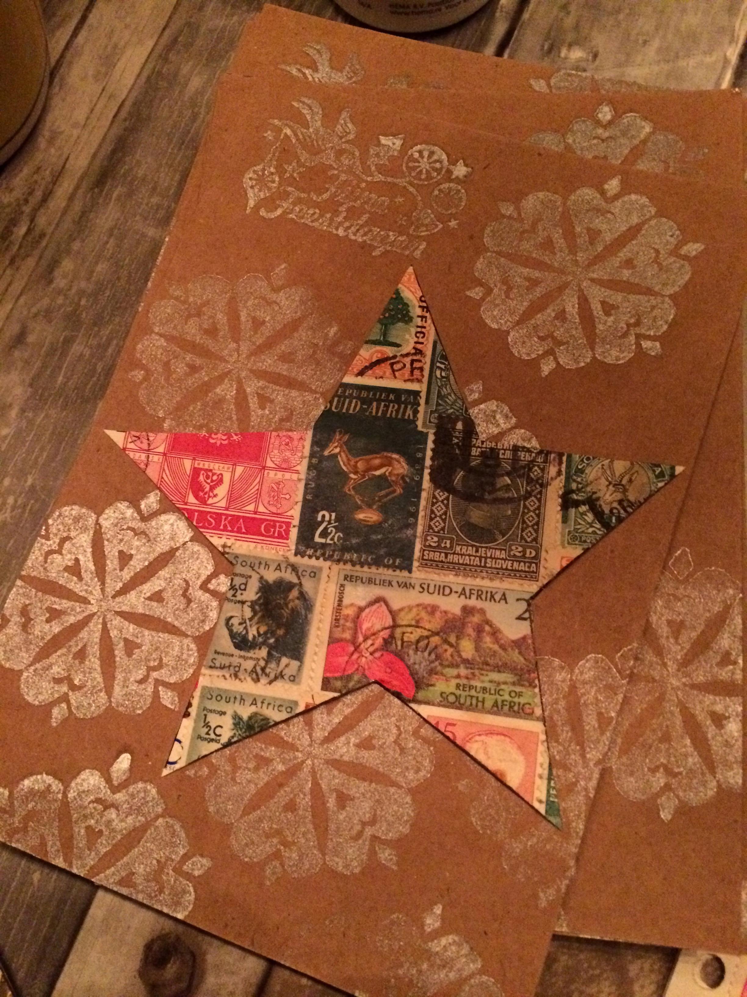 Postzegelkerstkaart van Sierou 5