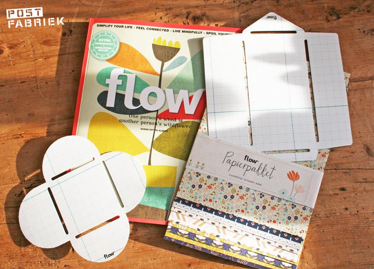 Flow Magazine 7-2014 met enveloppenmallen en papierpakket