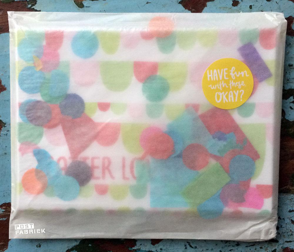 Verpakking van de scatterlove postkaarten