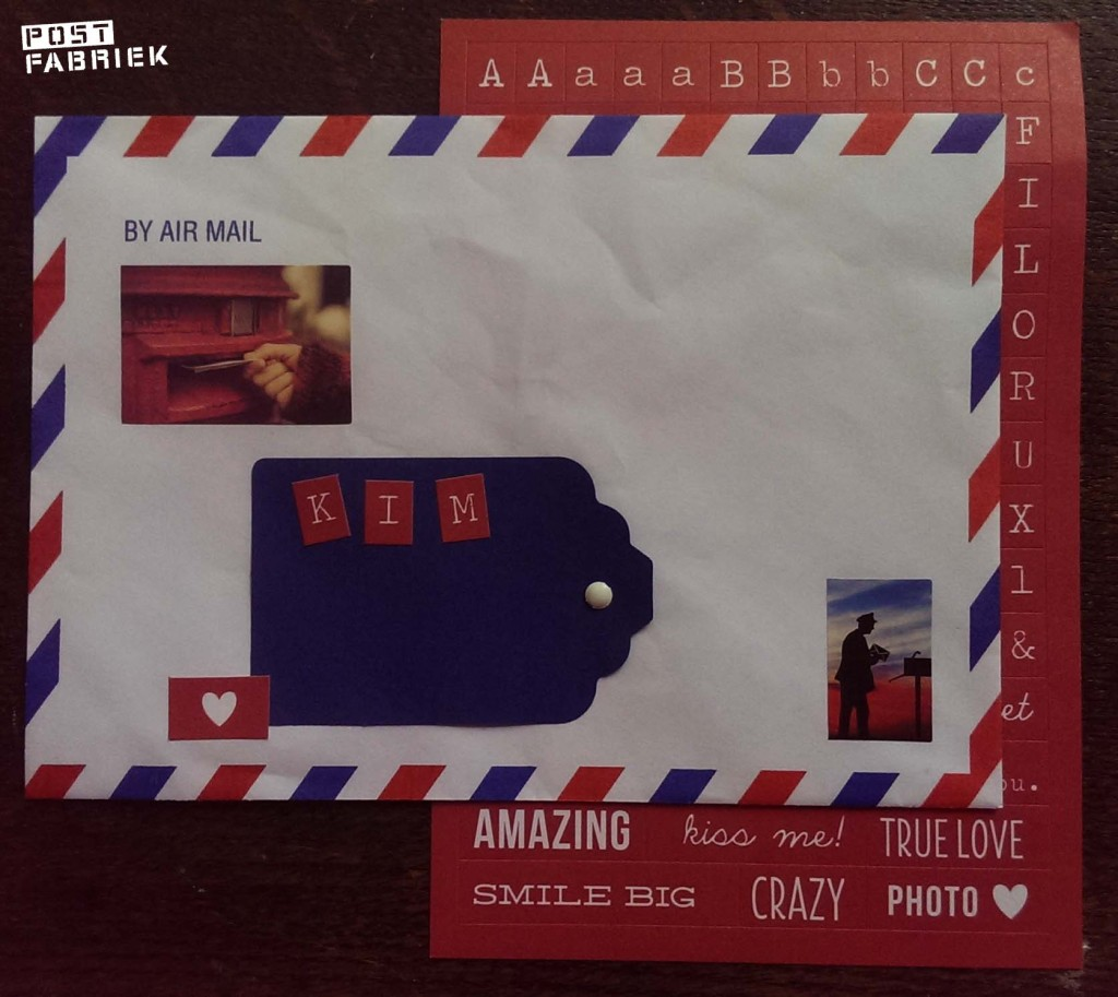 Alfabet stickers Airmail