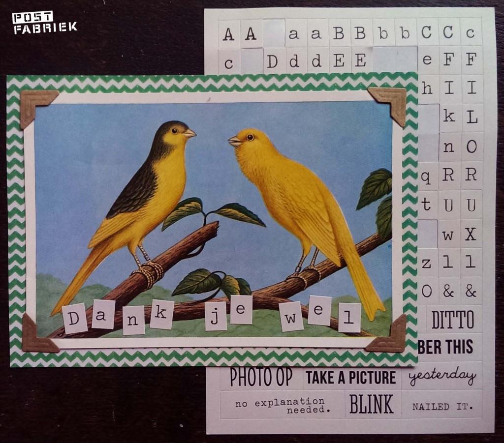 Alfabet stickers kanarie II