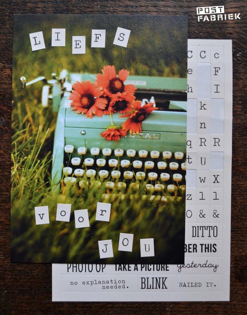 Alfabet stickers typemachine
