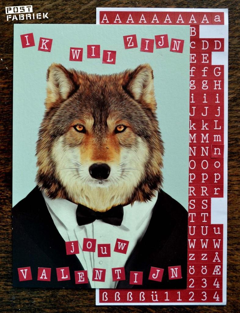 Alfabet stickers wolf