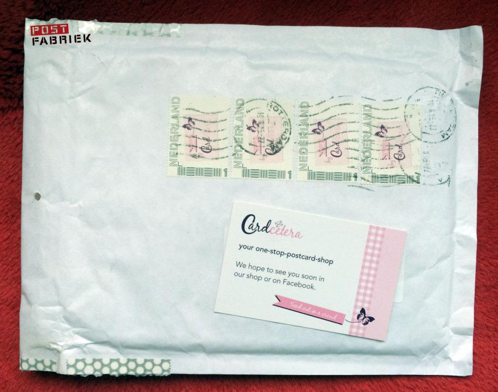 Cardcetera bestelling in enveloppe