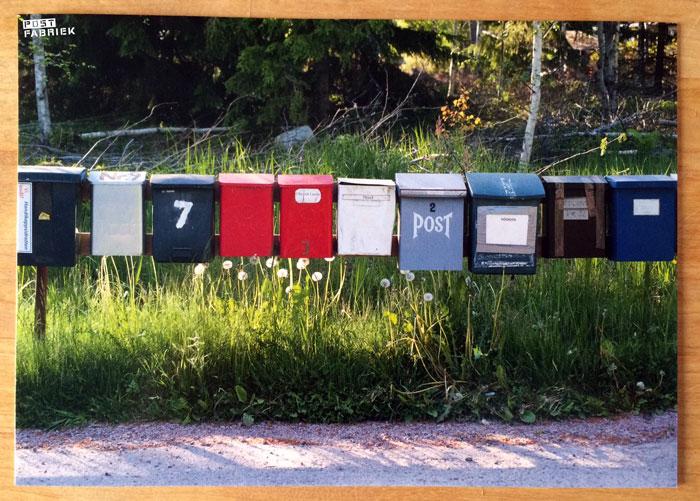 Kaart met brievenbussen Cardcetera