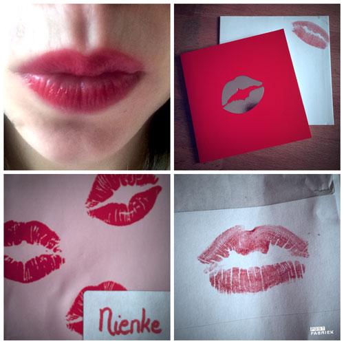 Kim omringde zich met kusjes voor Valentijn