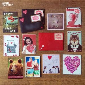 Kuskaartjes van Ruchama via de Niet plakken maar Kussen actie van PostNL ter ere van Valentijnsdag