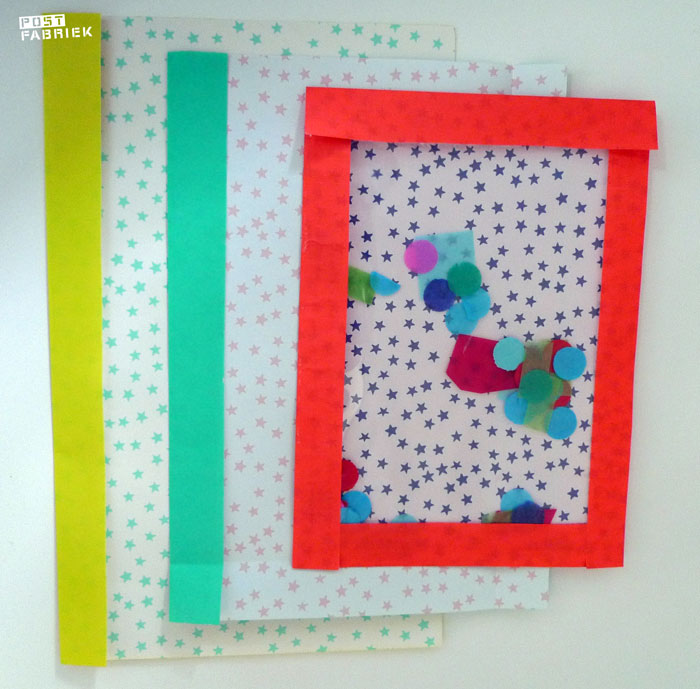 Enveloppe met raamvenster gemaakt door de Postfabriek met papier van Biri