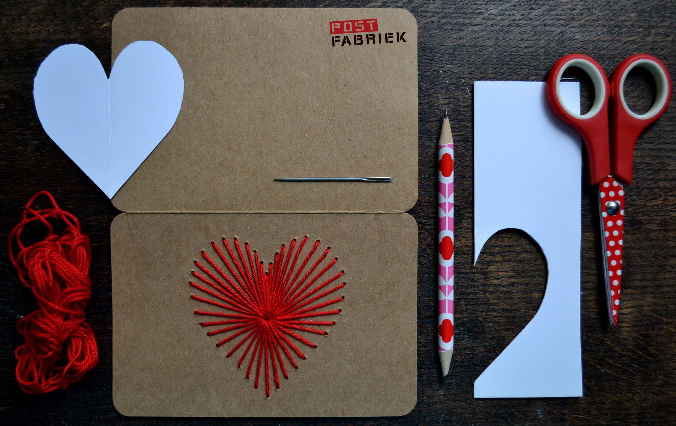 Valentijnskaart borduren