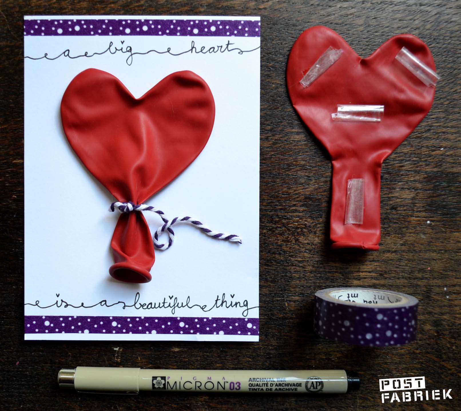 Valentijnskaart met ballon