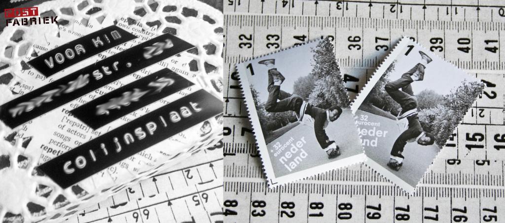 Bij zwarte witte post horen ook zwart/witte postzegels