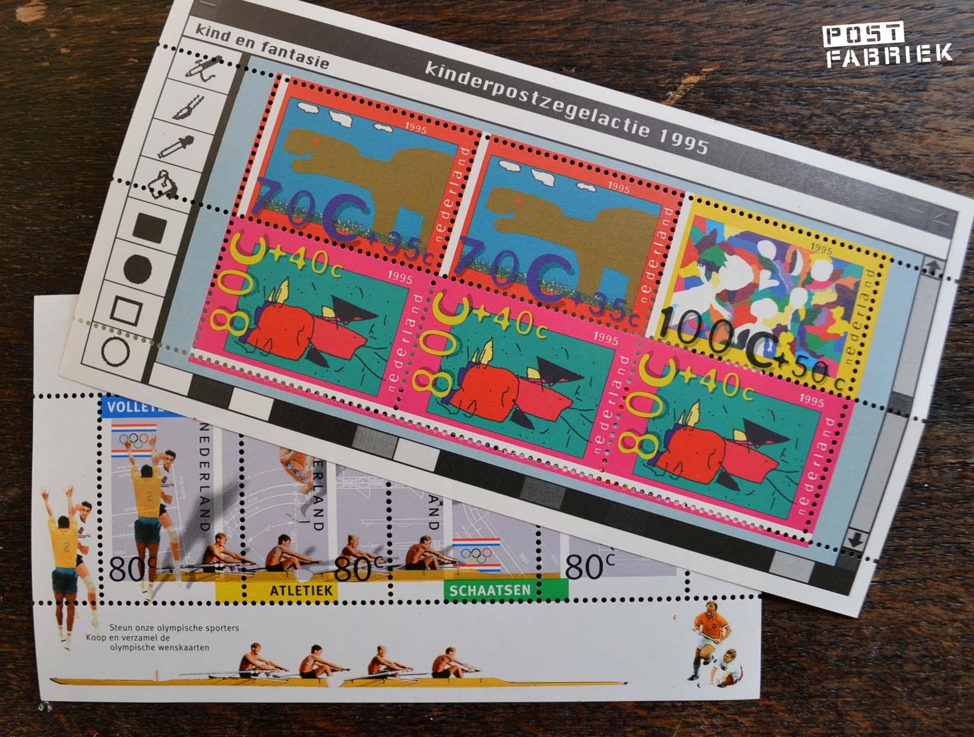 bij elke bestelling krijg je een gratis velletje oude Gulden postzegels.