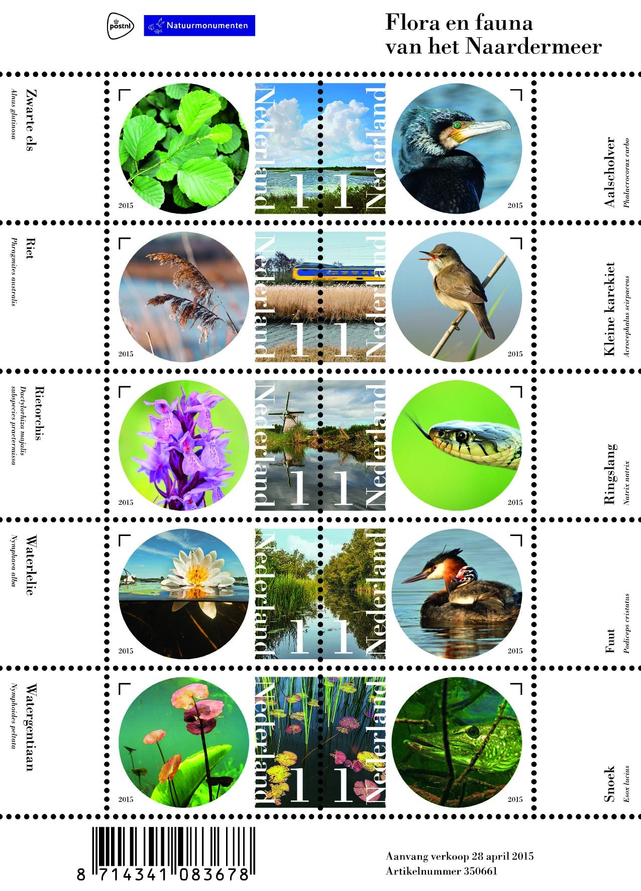 Flora en Fauna van het Noordermeer, te koop vanaf 28 april 2015