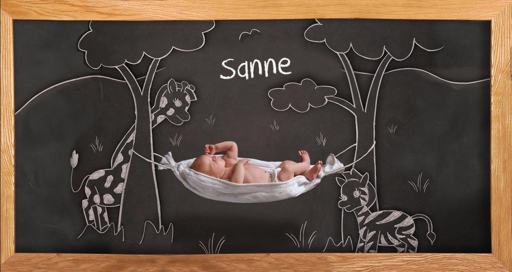Geboortekaartje uit de Cute Moments serie op geboortepost.nl