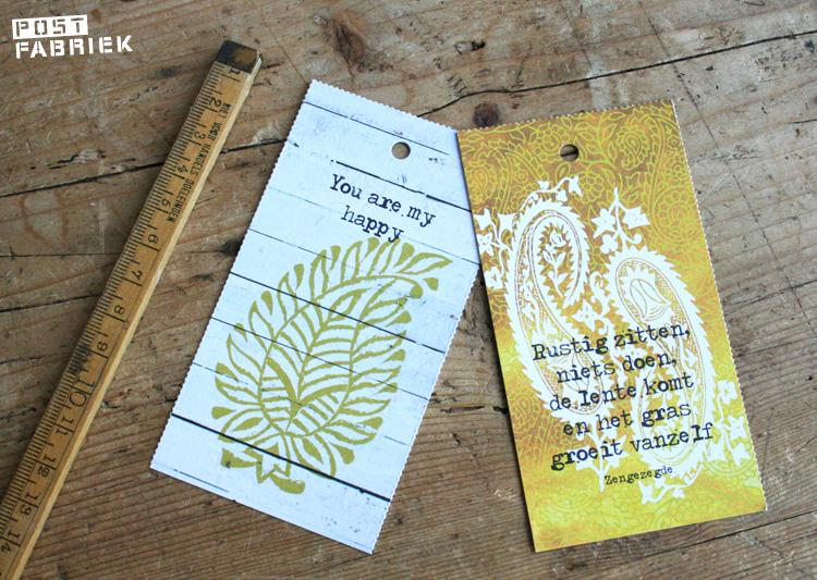 Kleine kaartjes uit Happinez Magazine
