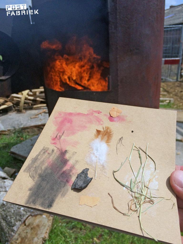 Met een stukje houtskool kun je tekenen
