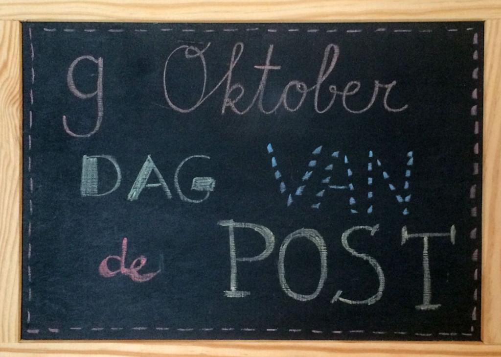 9 oktober dag van de post