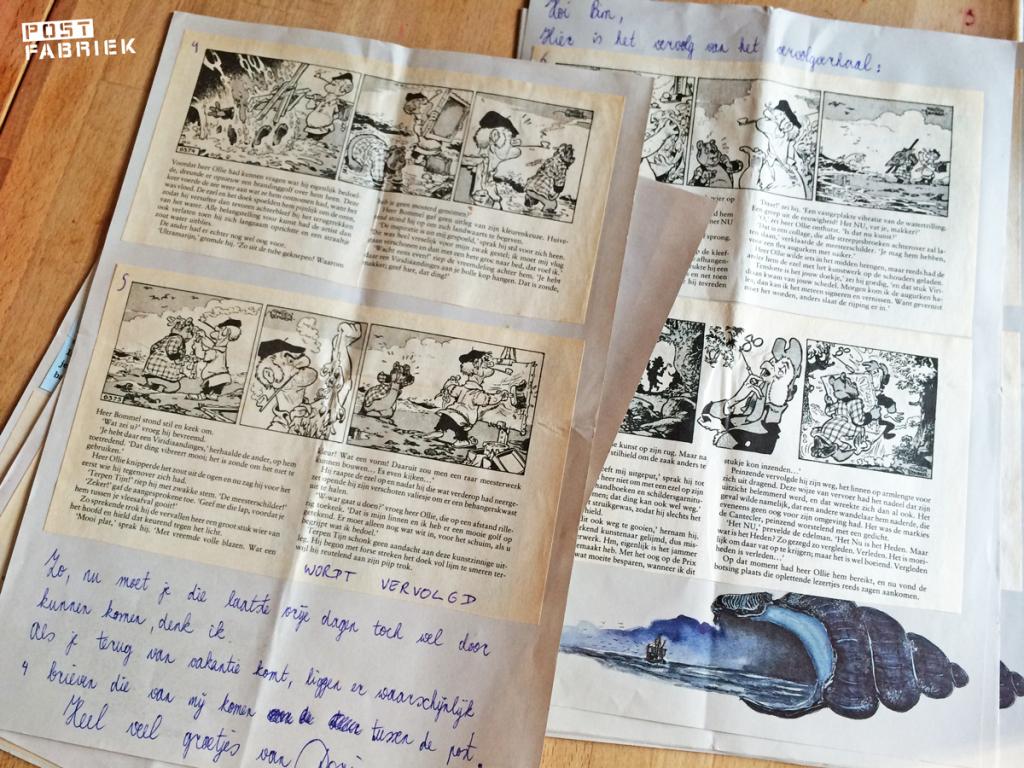 Een brief vol met krantenknipsels
